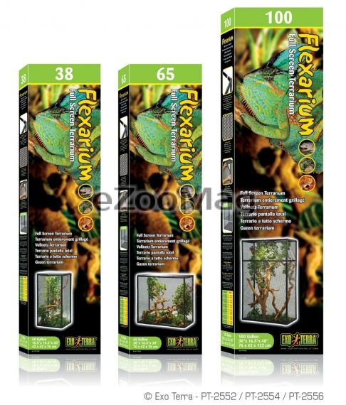 Exo Terra Flexarium Full Screen Terrarium PT-2552  - 42x42x76 cm
