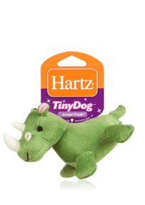 Hartz Tiny Dog Jungle Plush 3270004353 - Toy for dog Rhino