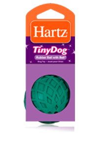 Hartz Tiny Dog Rubber Ball with Bell 3270081137 - Toy for dog