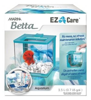 Hagen Marina Betta EZ Care Aquarium - White - 2.5 L